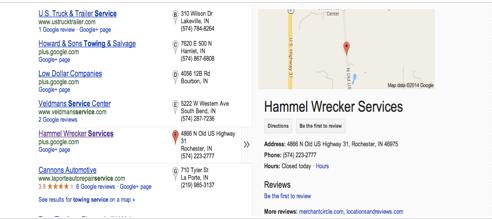 Google+ business info