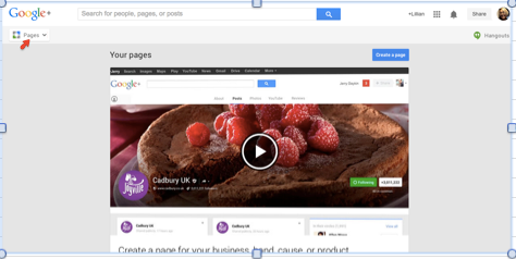 Google Pages Button