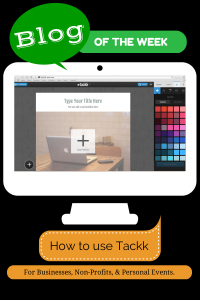 How to use Tackk graphic