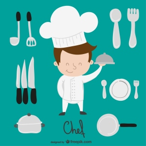 "<a href=""http://www.freepik.com/free-vector/chef-and-kitchen-elements-cartoon_753486.htm"">Designed by Freepik</a>"