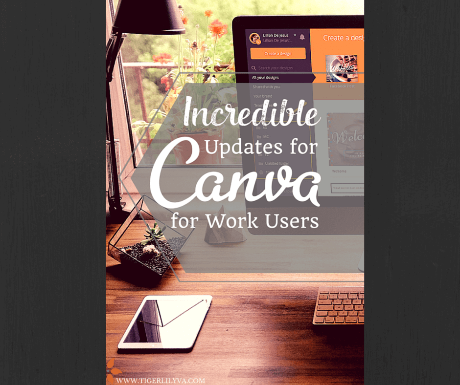 Featured Image. incredible updates for canva for work users