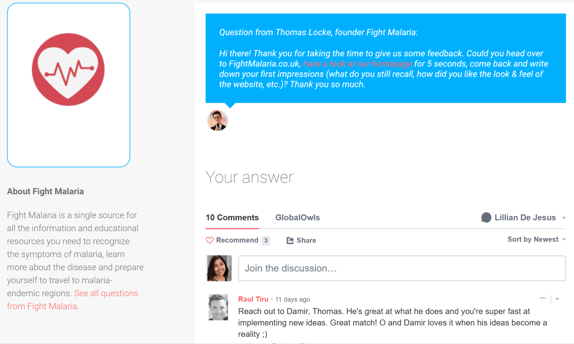 Question Example in GlobalOwls